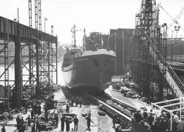 Ship at a shipyard