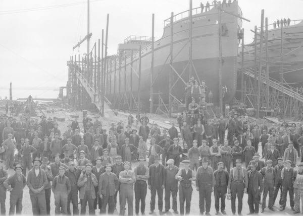 Shipyard Workers at a Shipyard