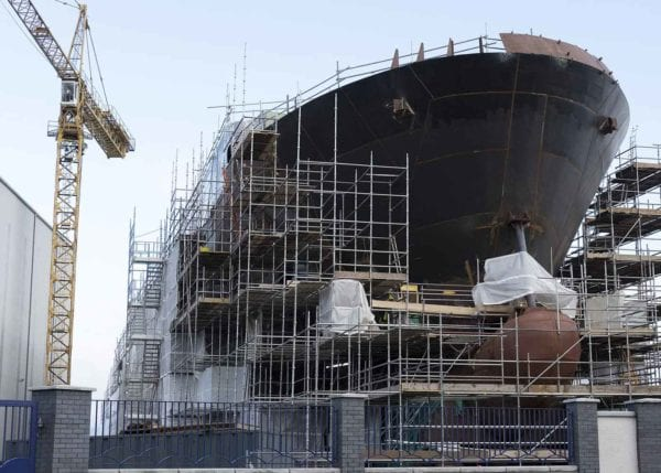 Asbestos use at shipyards