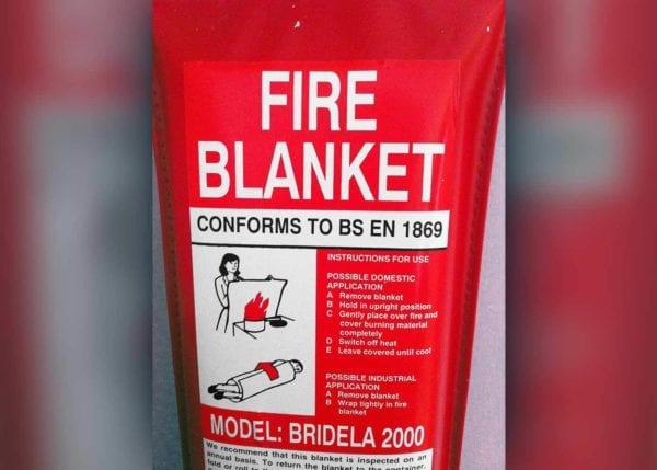 Fire Blanket Label