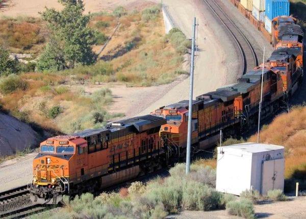 Train on a Railroad