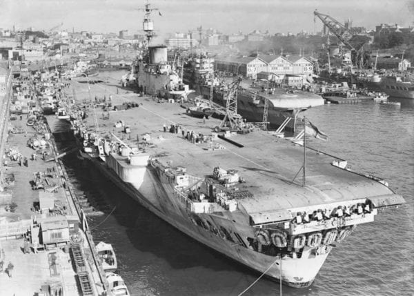 Aircraft Carrier in Water