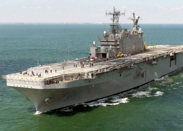 Amphibious Warship in Water