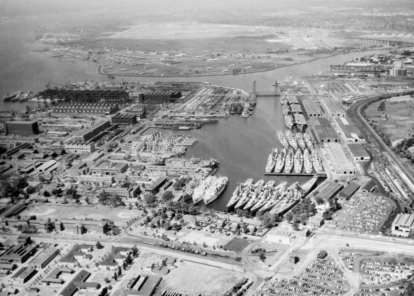 Philadelphia Naval Shipyard aerial view