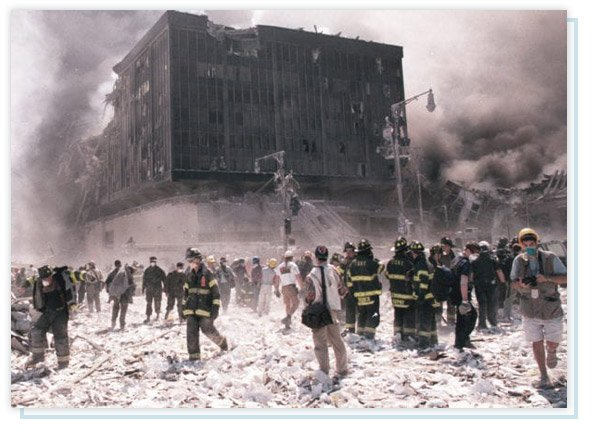 First responders at the World Trade Center on 9/11
