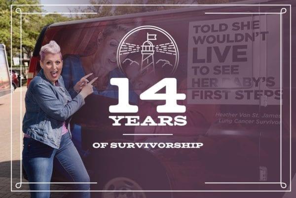 14-year mesothelioma survivor Heather Von St. James