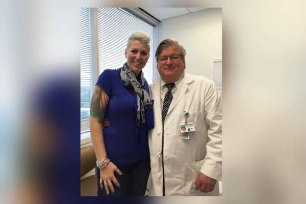 Mesothelioma survivor Heather Von St. James at her annual checkup with Dr. Sugarbaker