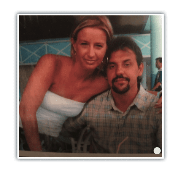 Gina Martucci and Emanuel Costa pose together on the last vacation they took before Emanuel was diagnosed with mesothelioma.