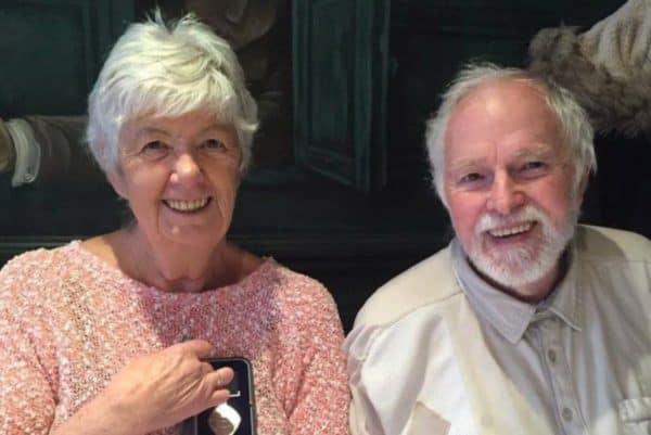UK mesothelioma warrior Mavis Nye and husband Ray