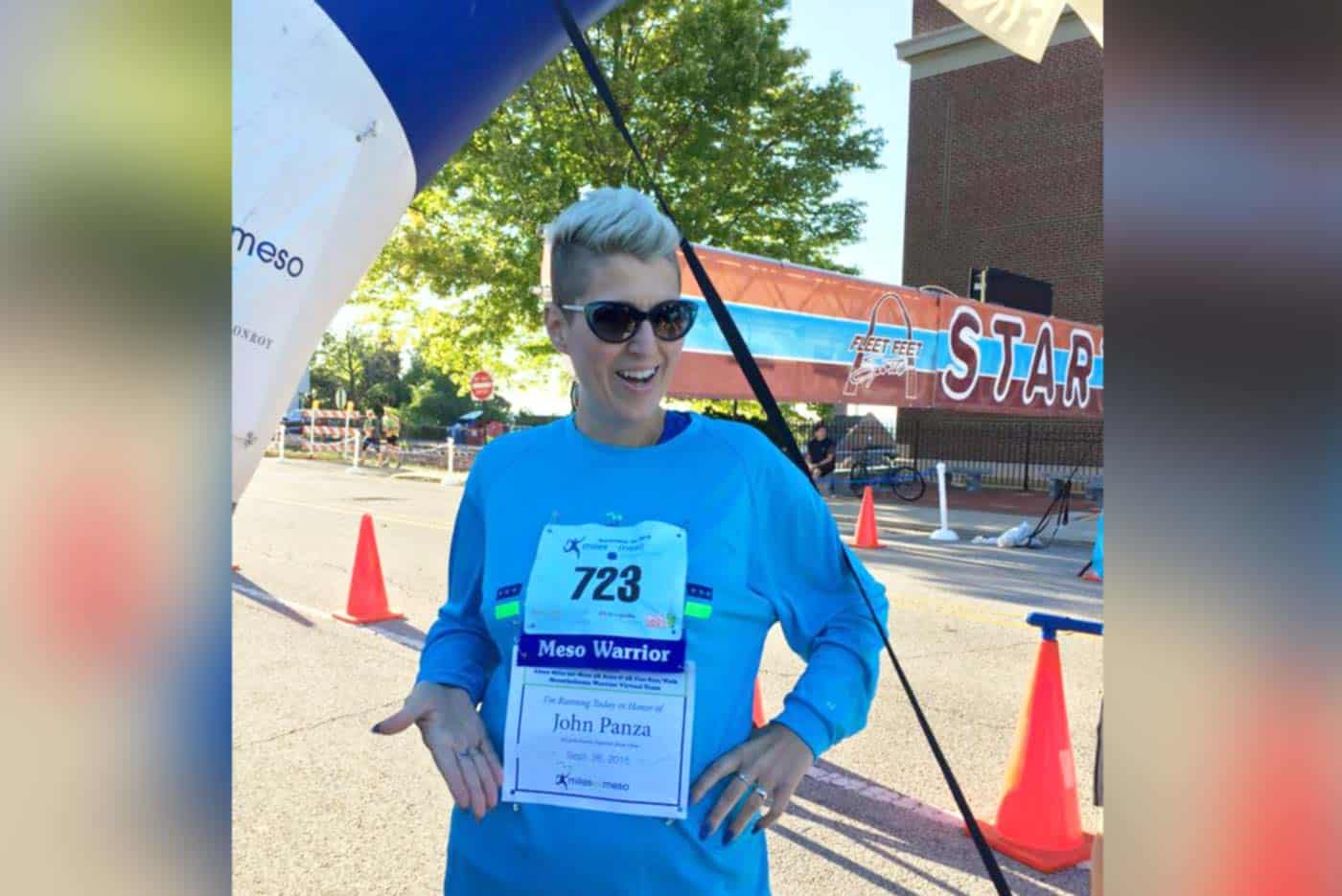 Heather Von St. James at Miles for Meso awareness event