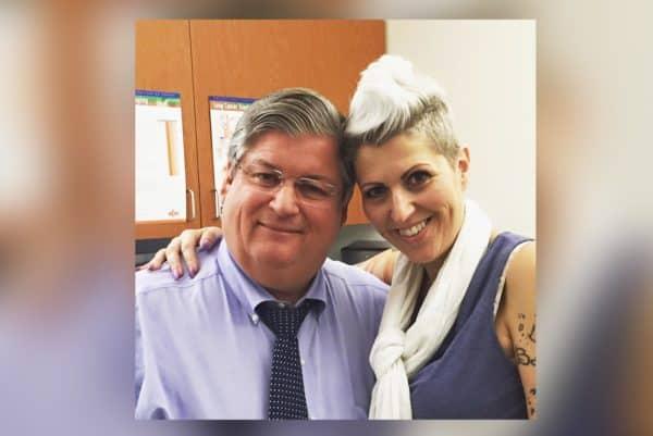 The late Dr. David Sugarbaker and mesothelioma survivor Heather Von St. James